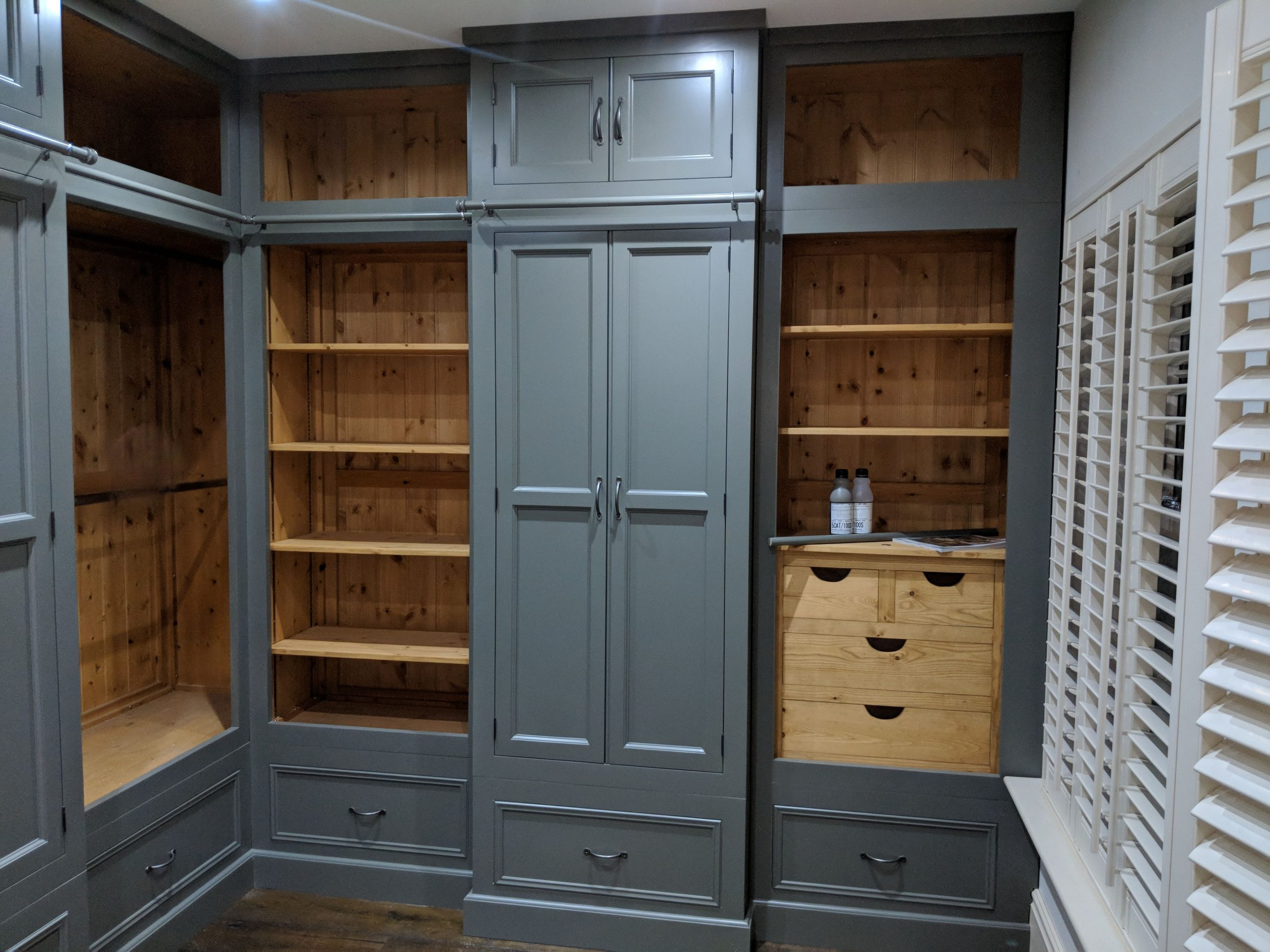 Dark Blue Bespoke Fitted wardrobes in Denby Dale, Huddersfield