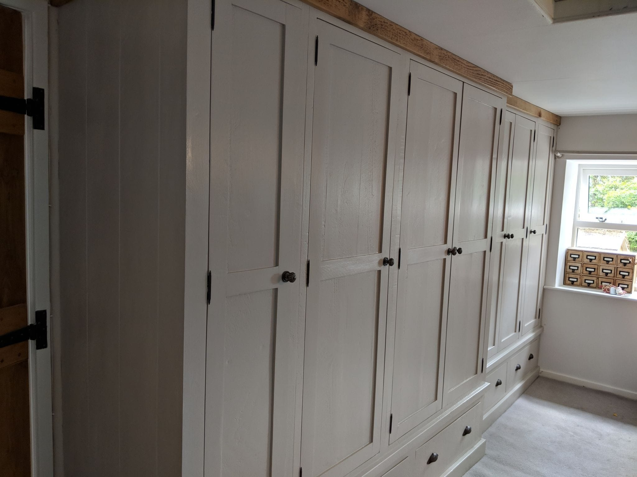 Light Grey Bespoke fitted wardrobes fit by Rural Interiors in Scissett, Huddersfield