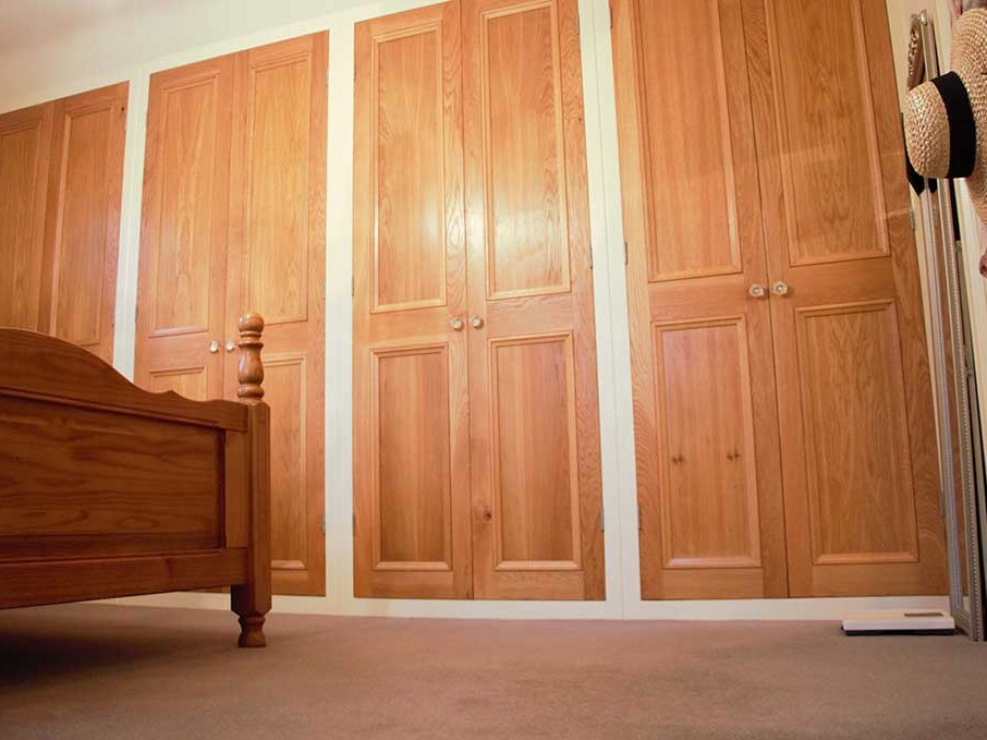 Light Wood Bespoke Fitted Wardrobes fit by Rural Interiors in Denby Dale Huddersfield
