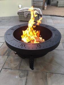Hand made fire pit, bbq and sundial